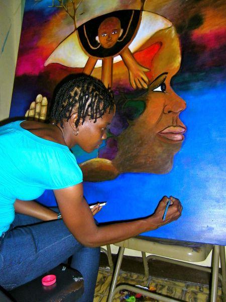 Haiti pittura quadri atelier
