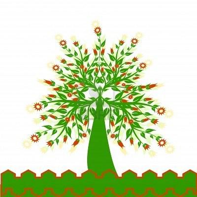 6924514-illustrazione-di-un-albero-fiorito-isolato-on-white