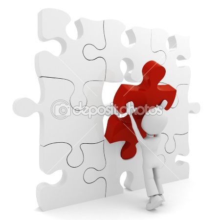 Dep_2423943-3d-man-pushing-a-puzzle-pieces-into-its