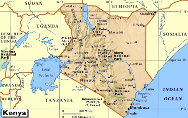 Kenya-cartina
